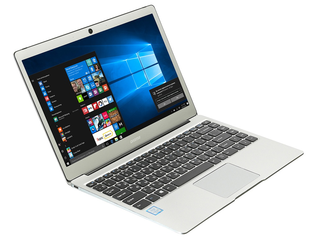 Ноутбук Digma CITI E302 Silver ES3009EW (Intel Core m3-7Y30 1.0 GHz/4096Mb/64Gb SSD/Intel HD Graphics/Wi-Fi/Bluetooth/Cam/13.3/1920x1080/Windows 10 Home 64-bit)