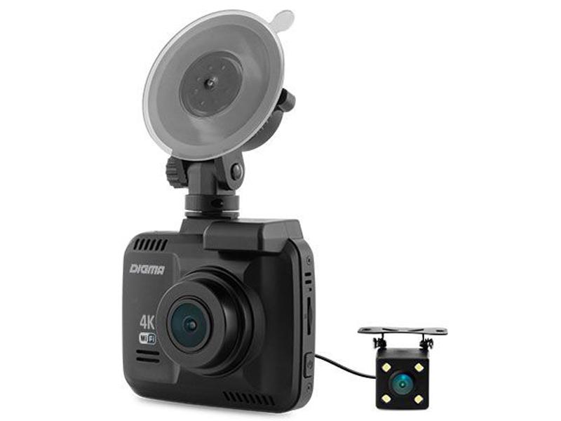 Видеорегистратор Digma FreeDrive 600-GW DUAL 4K Black FD600D4