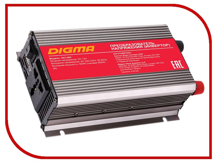 Автоинвертор Digma DCI-300 инвертор digma dci 75 75вт
