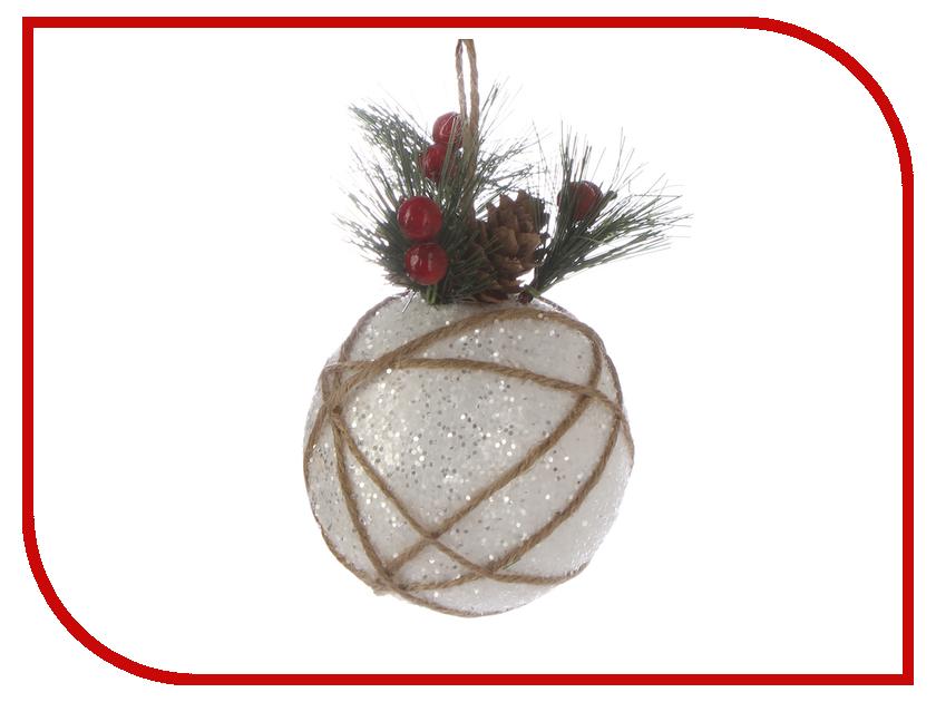 Украшение Магия праздника Шар с ветками 12cm NY121 елка искусственная с ягодами и ветками 35см