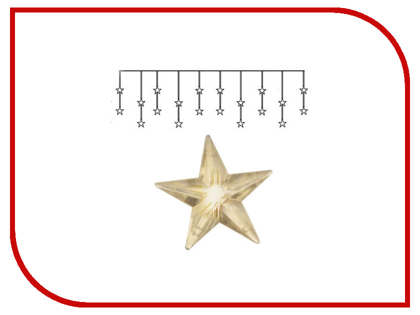 Гирлянда Star Trading Занавес со звёздами 20 LED 180x40cm Warm Yellow 2006-73 sunree waterproof 162lm 4 mode warm yellow light led sports headlamp black