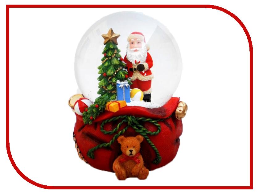 Снежный шар Crystal Deco Санта с подарками 6.5cm 150303 украшение nord trade co санта с подарками cdbl 12025