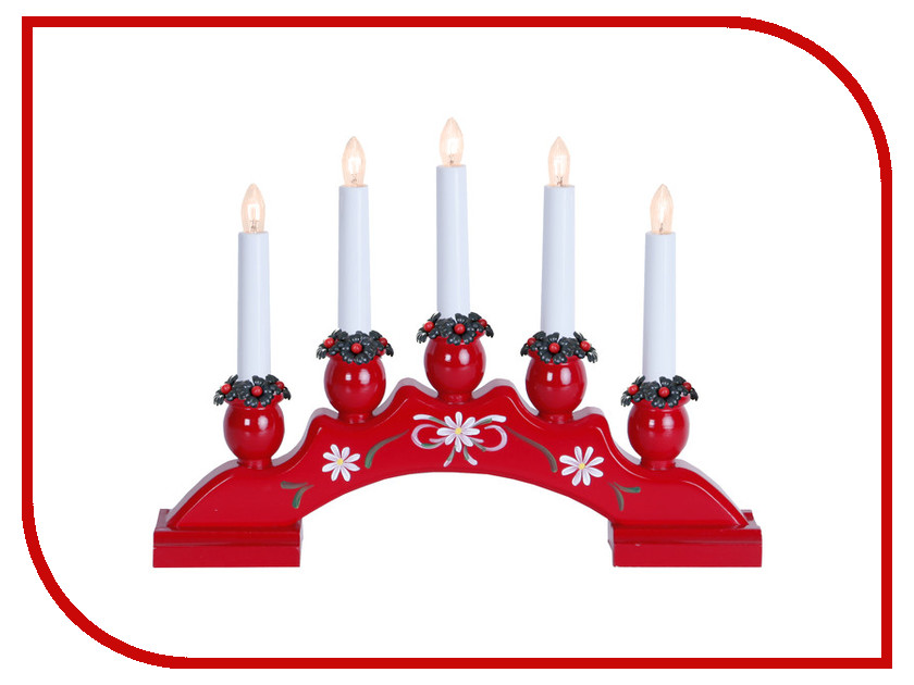 Светящееся украшение Star Trading Горка рождественская SANNA-5 Red 200-85 помада ga de true color satin lipstick 85 цвет 85 red passion variant hex name bd1933