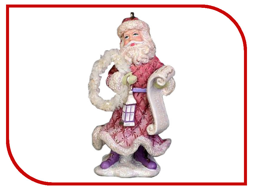 Украшение NV Traiding Co Санта в розовых тонах с фонарем 28447-8 украшение nord trade co санта с подарками cdbl 12025