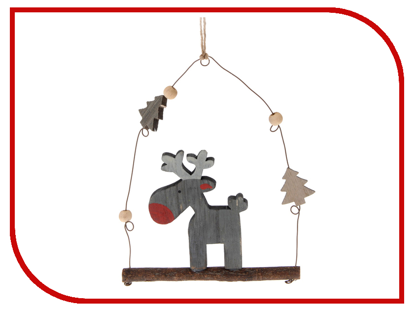 Украшение Koopman International Забавный лось на качелях DH8002140 цены онлайн