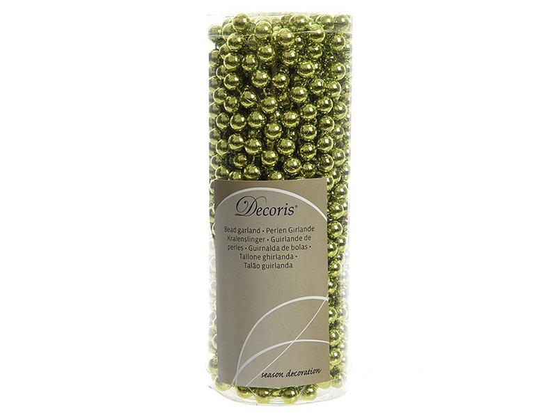 Украшение Kaemingk Бусы Цветной бисер 10m Olive 000683