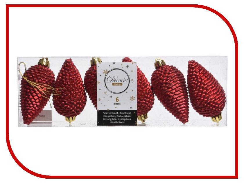 Украшение Kaemingk Шишки еловые 6шт Red 028572 еловые шишки magic home еловые шишки