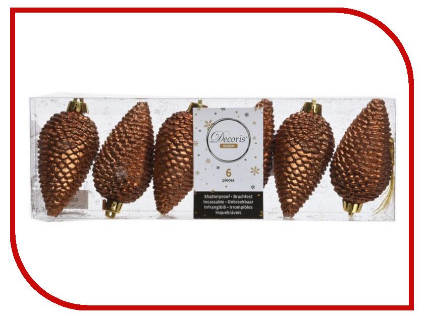 Украшение Kaemingk Шишки еловые 6шт Copper 028626 еловые шишки magic home еловые шишки