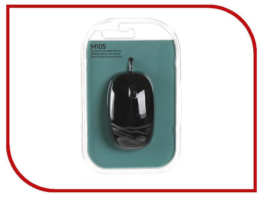 Мышь Logitech M105 Black 910-002943 мышь проводная logitech m105 красный usb 910 002945