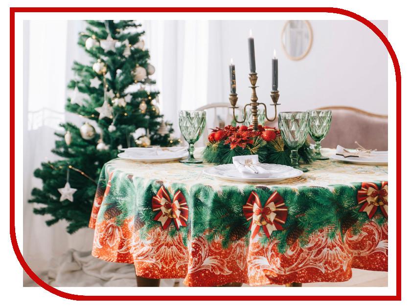 Скатерть Этель Новогоднее Волшебство d-160cm 3639778 винтажный декупаж новогоднее волшебство фантазер