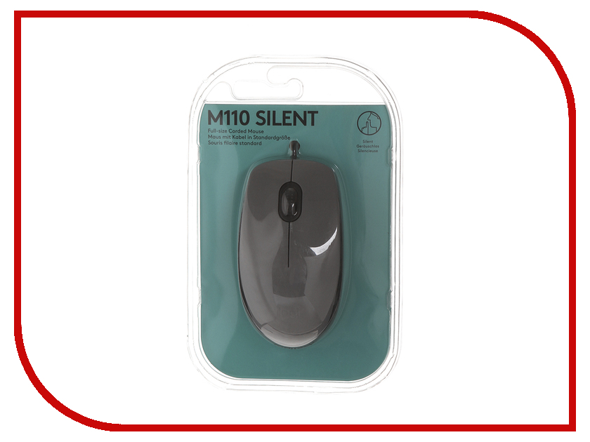 все цены на Мышь Logitech M110 Silent Mid Gray 910-005490 онлайн