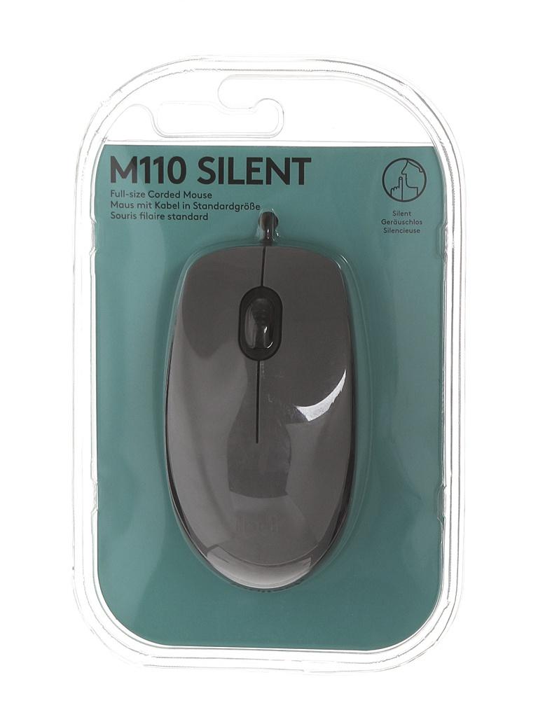 Мышь Logitech M110 Silent Mid Gray 910-005490