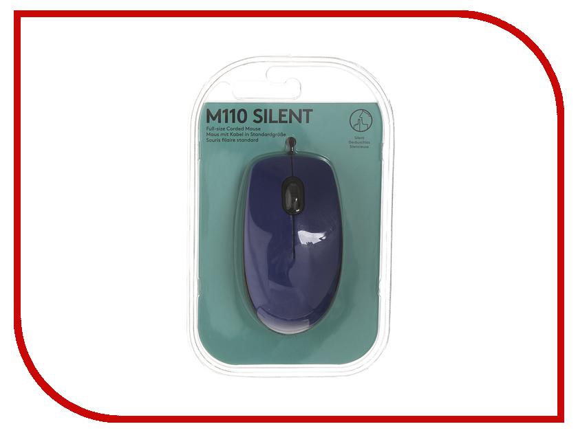 Мышь Logitech M110 Silent Blue 910-005488 мышь logitech m525 blue 910 004933 910 004933