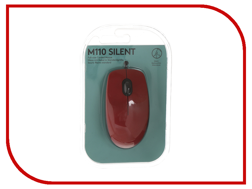 все цены на Мышь Logitech M110 Silent Red 910-005489 онлайн