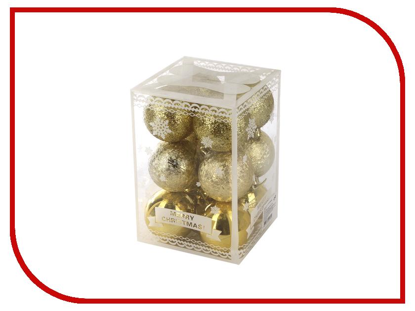 Украшение Магия праздника Набор шаров 6cm 12шт NY132 свечи для праздника с цветным пламенем 12шт 6цв