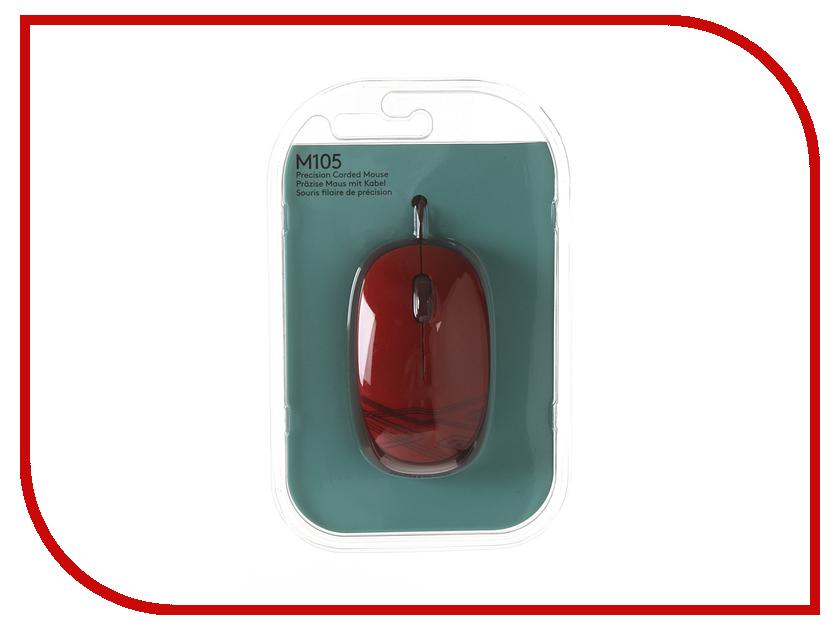 Мышь Logitech M105 Red 910-002945 мышь logitech m105 black 910 003116