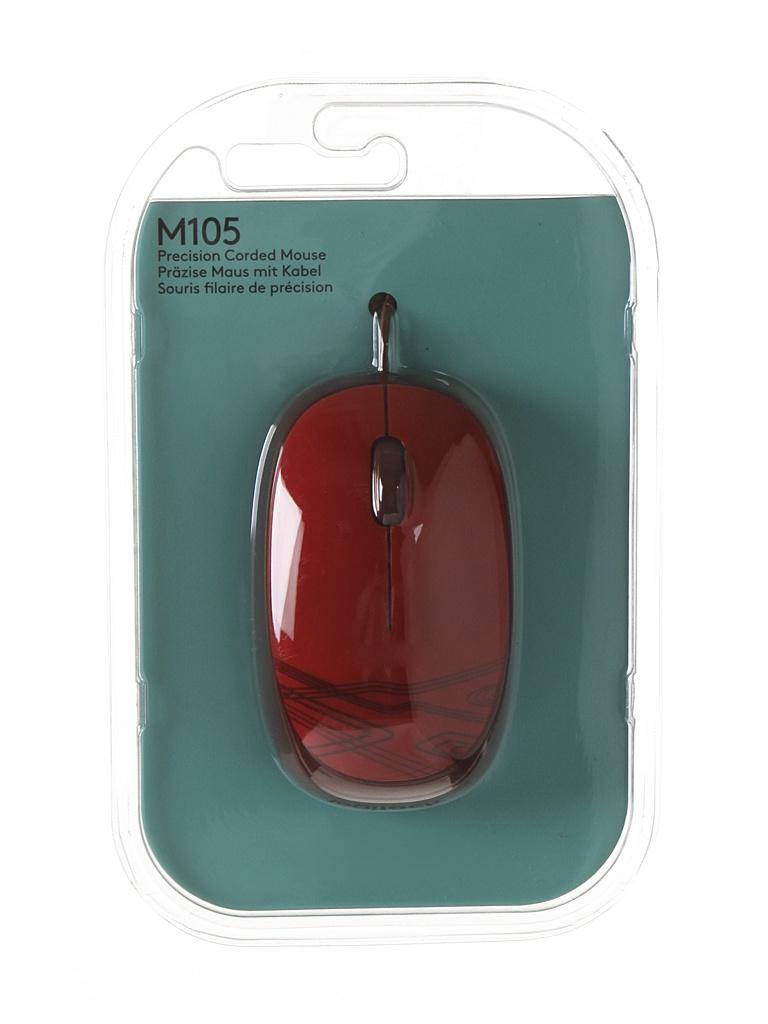 Мышь Logitech M105 Red 910-002945 / 910-003118 мышь logitech mouse m105 910 002945