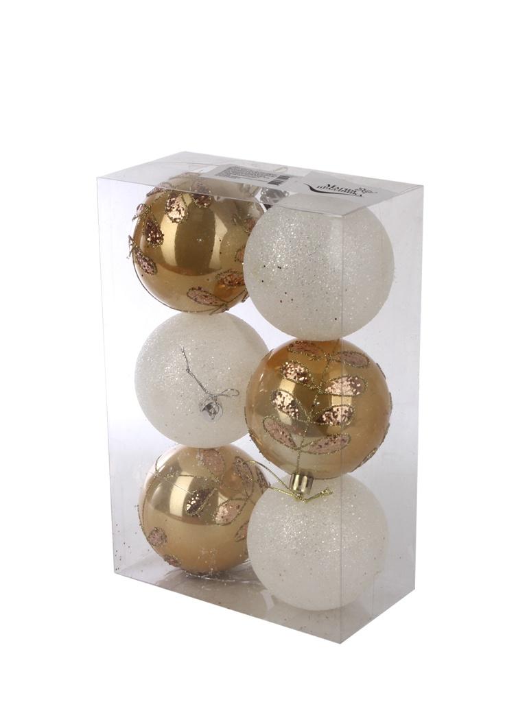Украшение Магия праздника Набор шаров 6cm 6шт NY036