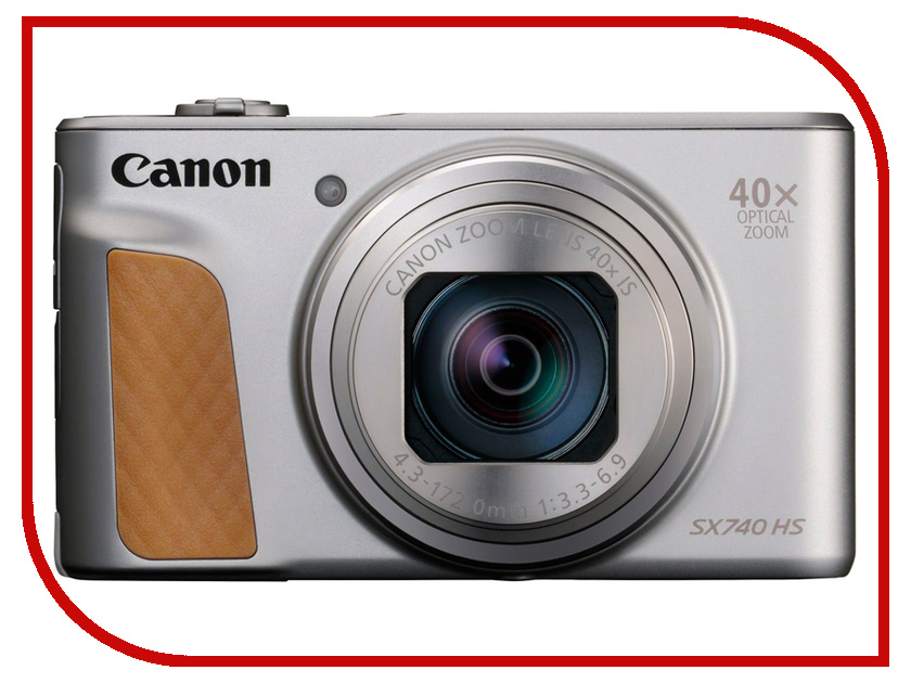 Фотоаппарат Canon PowerShot SX740 HS Silver фотоаппарат canon powershot sx430 is 20mp 45xzoom черный 1790c002