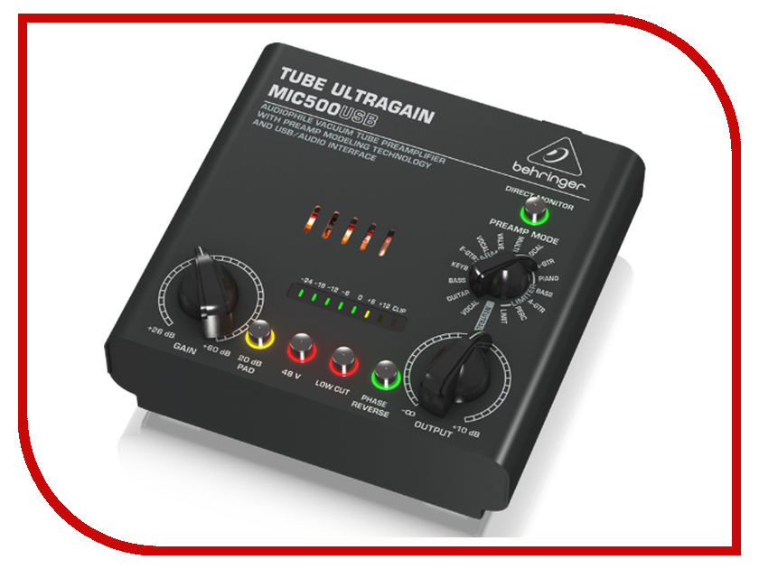 Аудиоинтерфейс Behringer MIC500USB аудиоинтерфейс esi u86 xt