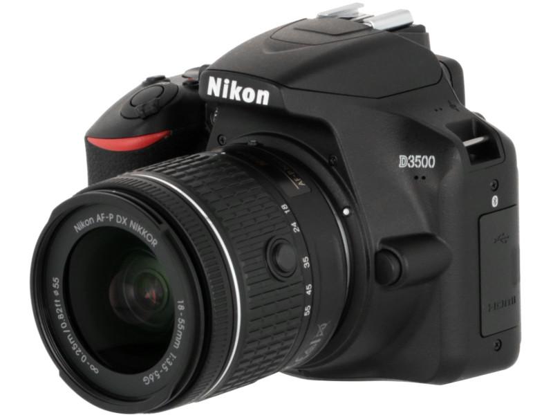 Фотоаппарат Nikon D3500 Kit 18-55 mm AF-P Black зеркальный фотоаппарат nikon d7500 af s dx nikkor 18 105vr черный
