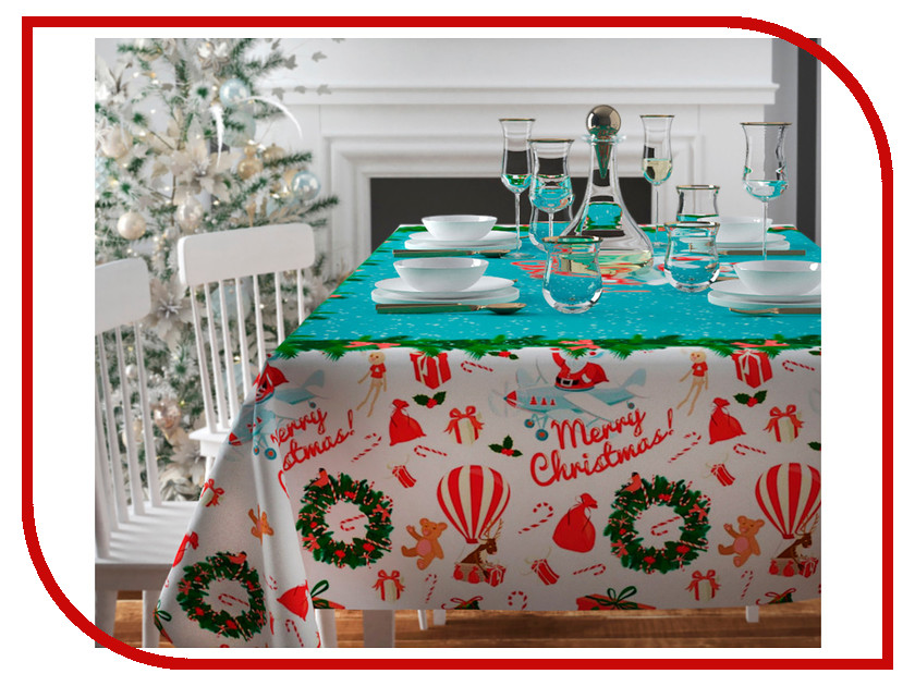 Скатерть Сирень Рождество приходит 140x220cm 3872829 скатерть сирень снеговичок 120x140cm 3872834
