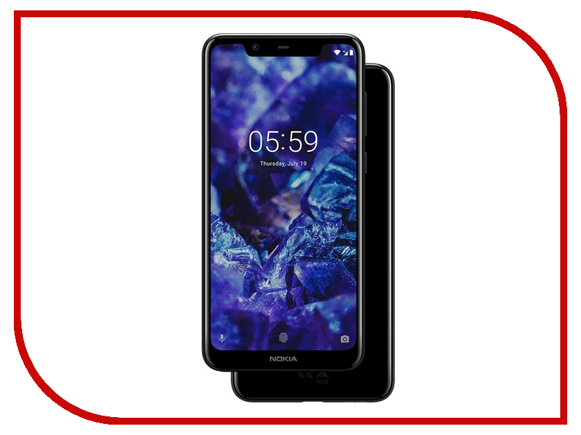 Сотовый телефон Nokia 5.1 Plus Black сотовый телефон nokia 7 plus black copper