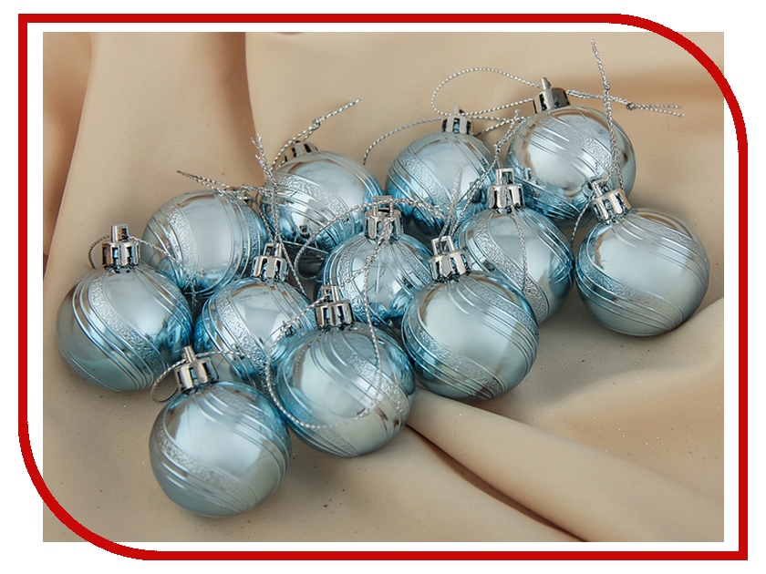 все цены на Украшение СИМА-ЛЕНД Набор шаров Волна 12шт Light Blue 3276663