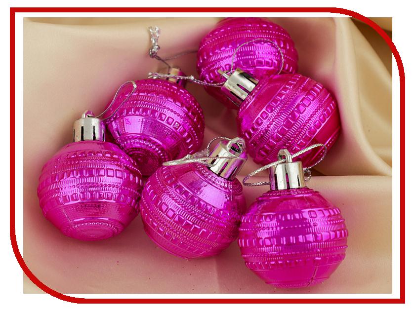 Украшение СИМА-ЛЕНД Набор шаров Бусинка 6шт Crimson 3505641 набор шаров 80мм 6шт стекло зеленый