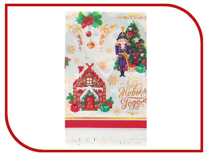 Страна Карнавалия Скатерть С Новым Годом 182x137cm 3483245 новогодний сувенир страна карнавалия конфетти с новым годом енотик mix 2226407