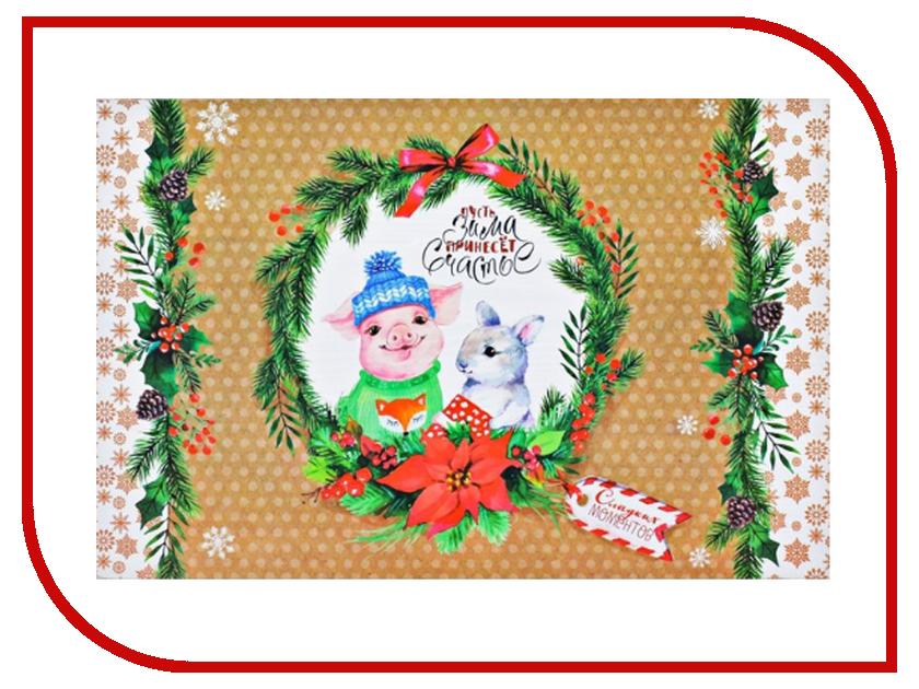 Салфетка СИМА-ЛЕНД Пусть зима принесёт счастье 3256178 аксессуар сима ленд салфетка с волокнами бамбука 23x18 754820