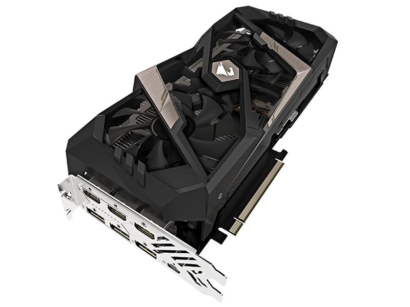 Видеокарта GigaByte GeForce RTX 2070 AORUS 1620Mhz PCI-E 3.0 8192Mb 14000Mhz 256 bit UCB-C 3xHDMI 3xDP GV-N2070AORUS-8GC