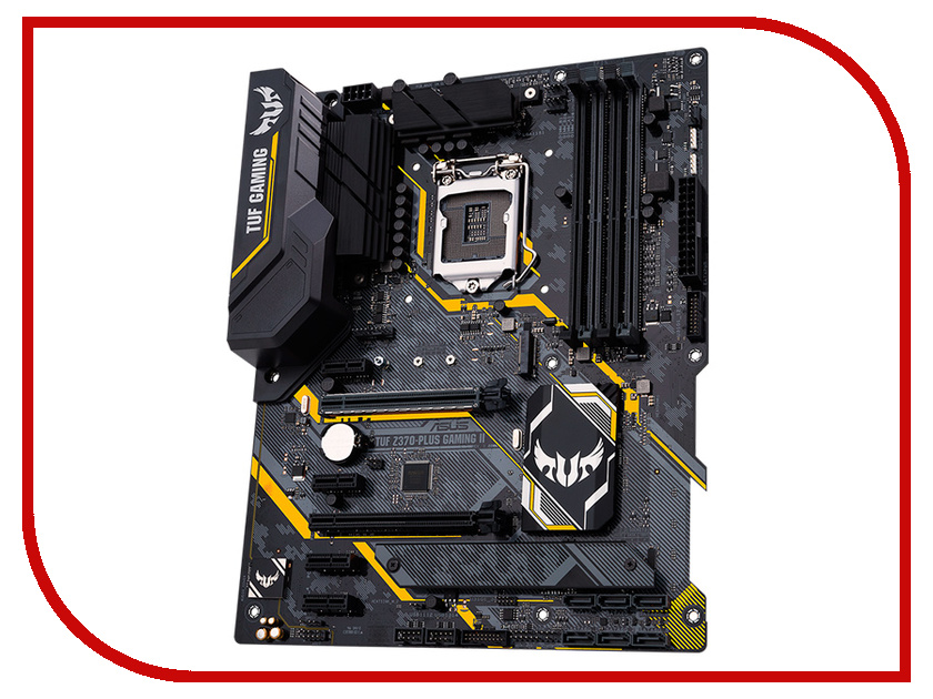 Материнская плата ASUS TUF Z370-PLUS GAMING II материнская плата asus tuf b350m plus gaming