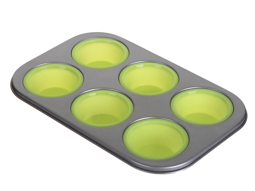 Форма для выпечки Gipfel Twinkle Silicone 28.5x18.5x3cm Grey-Green 0314 форма для выпечки 6 кексов gipfel twinkle 0314