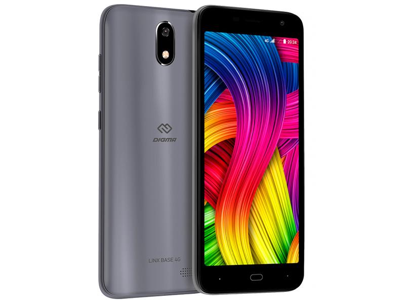 Сотовый телефон Digma LINX BASE 4G Grey сотовый телефон digma vox e502 4g dark blue
