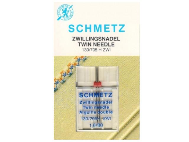 Двойная игла Schmetz №80/1.6 130/705H ZWI SCS 1шт