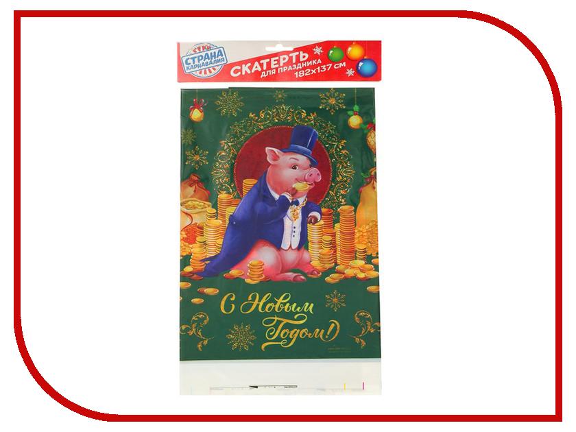 Страна Карнавалия Скатерть С Новым годом 182x137cm 3483238 новогодний сувенир страна карнавалия конфетти с новым годом енотик mix 2226407