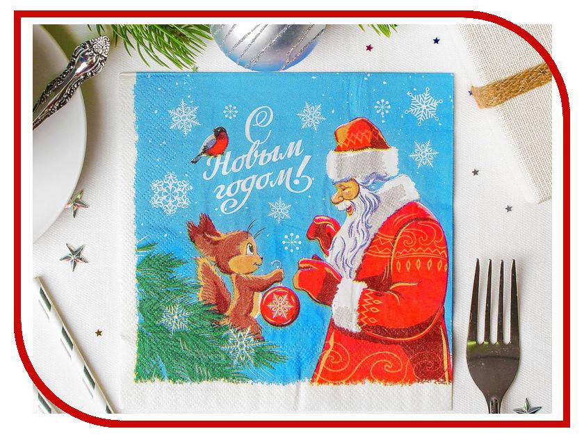 Салфетки Страна Карнавалия С Новым годом!, ёлочка 33x33см 20шт 3471034 волшебная страна сувенир ёлочка
