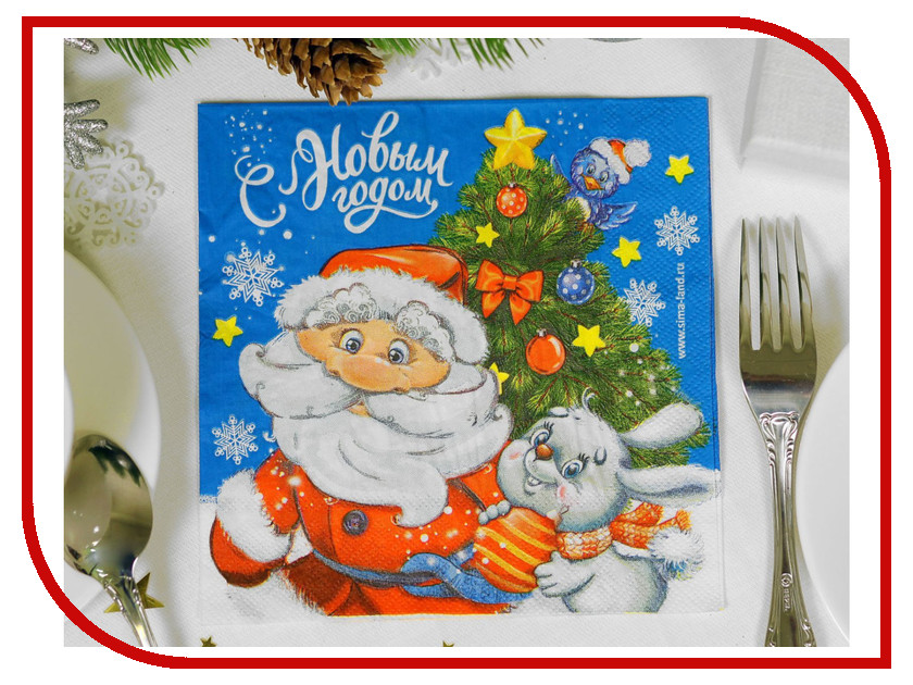 Салфетки Страна Карнавалия С Новым Годом 33x33см 20шт 2226483 новогодний сувенир страна карнавалия конфетти с новым годом енотик mix 2226407