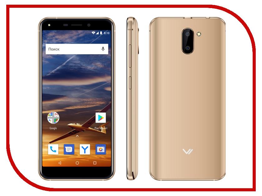 Сотовый телефон VERTEX Impress Vira Gold мобильный телефон vertex impress disco графит