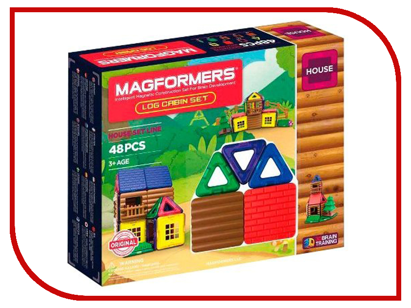 Конструктор Magformers House 705006 Домик из бревен конструктор деревянный model toys домик из панелек