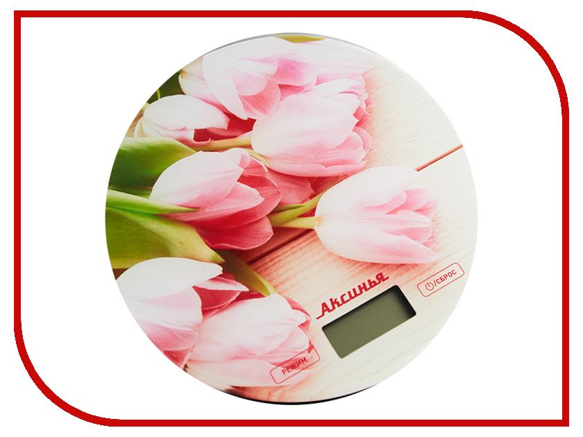 Весы Аксинья КС-6503 Розовые тюльпаны
