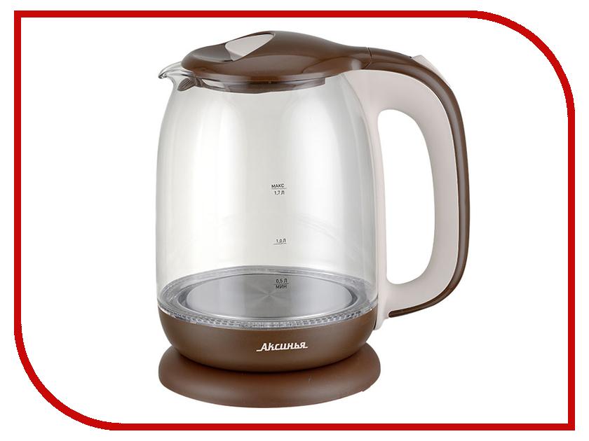 Чайник Аксинья КС-1020 Brown-Beige плита аксинья кс 005 brown