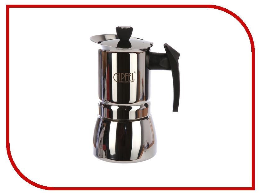 Кофеварка Gipfel Vals 200ml на 4 порции Steel-Black 5328 кофеварка gipfel azzimato 500ml на 10 порций steel black 5394