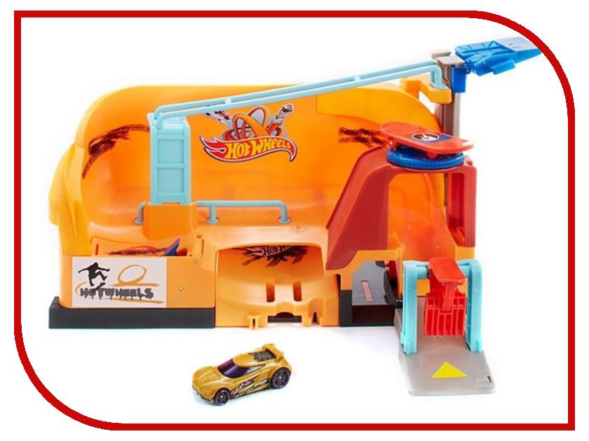 Автотрек Mattel Hot Wheels Трюк со скейтом FNB16 mattel автотрек hot wheels сити полицейская погоня