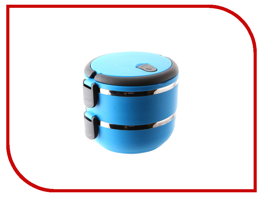 цена на Ланч-бокс Gipfel круглый 2шт Blue 0287