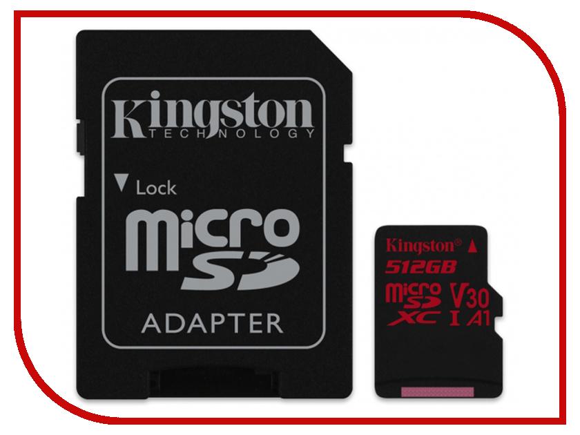 Карта памяти 512Gb - Kingston MicroSDXC Class10 UHS-I U3 Canvas React SDCR/512GB карта памяти sdhc 32гб class 10 uhs i u3 100r 80w kingston canvas react