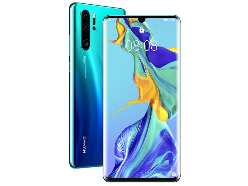 Фото - Сотовый телефон HUAWEI P30 Pro Aurora Blue сотовый телефон huawei y7 2019 4 64gb aurora purple