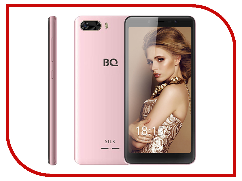 Сотовый телефон BQ BQ-5520L Silk Pink сотовый телефон bq bq 5520l silk brown