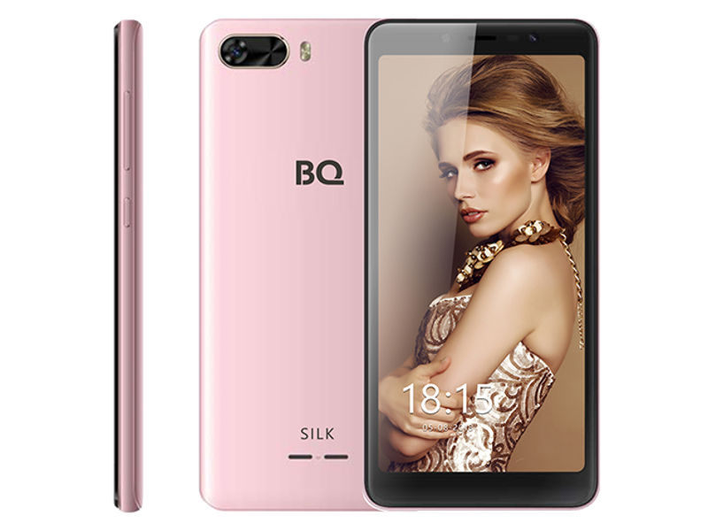 Сотовый телефон BQ BQ-5520L Silk Pink сотовый телефон bq bqs 5070 magic lte pink